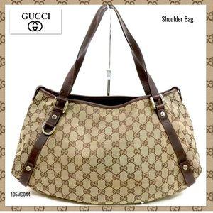 190c4373092 Gucci · Vintage Gucci canvas abbey GG SHOULDER BAG Brown